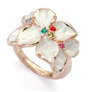 ItaliaSTYLE Ring - Rainbow Flower