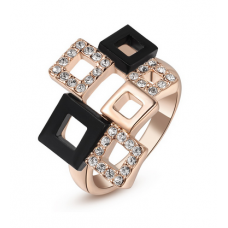 ItaliaSTYLE Ring - Squares (Black)