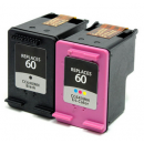 HP 60 Black & 60 Color - Combo Pack - New remanufactured SHIPS TO CANADA ONLY